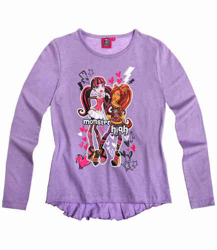 Langarmshirt Monster High - lila