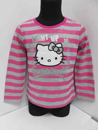 Hello Kitty - Langarmshirt grau/pink