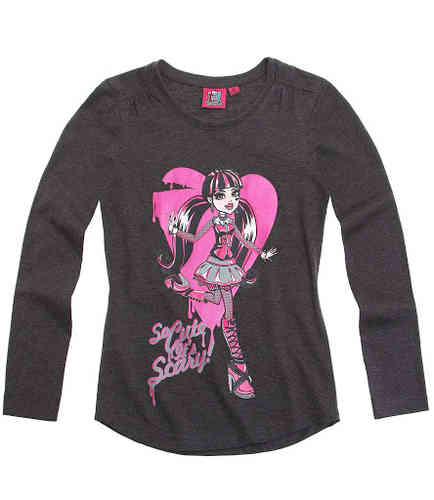 Monster High - Langarmshirt grau Gr. 164