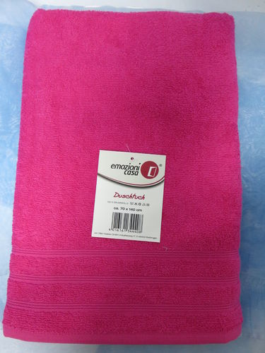 Duschtuch - Uni - Farbe pink * 70/140 *