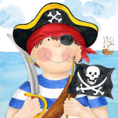 PPD - Servietten Pirate Boy