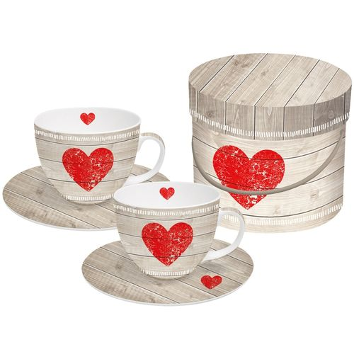 ppd - Cappuccino Cup Heart of Wood