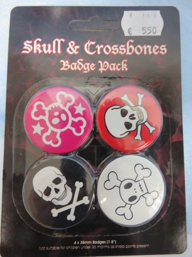 Badge Pack / Buttons * Skull & Crossbones
