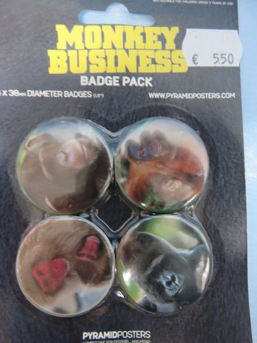 Badge Pack / Buttons * Monkey Business
