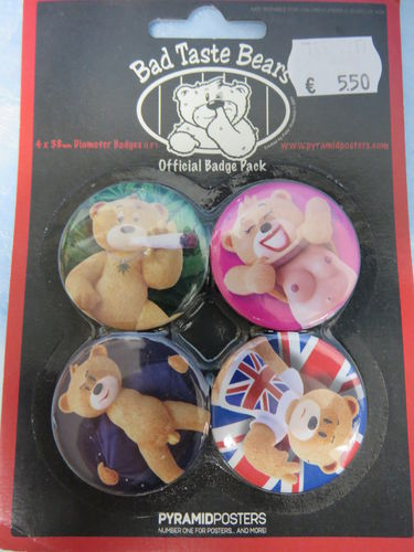 Badge Pack / Buttons * Bad Taste Bears