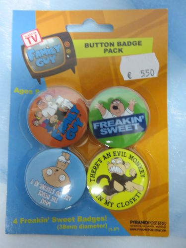 Badge Pack / Buttons * Family Guy