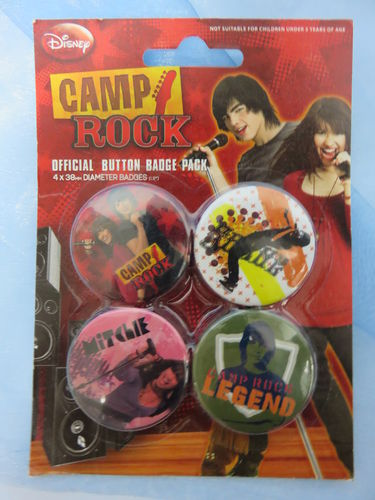 Badge Pack / Buttons * Camp Rock