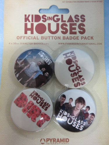 Badge Pack / Buttons * Kids in Glass Houses
