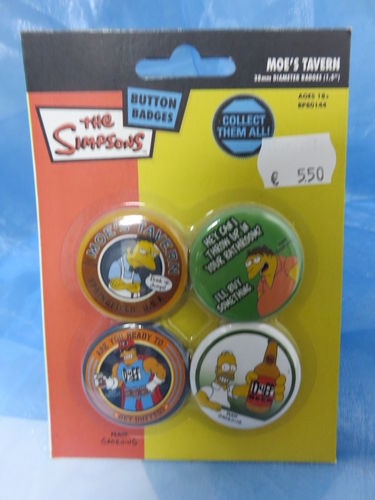 Buttons - Badge Pack - The Simpsons * 4 Stck. *