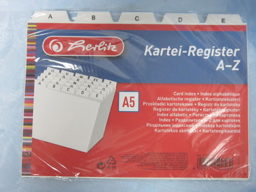 Herlitz * Kartei-Register A-Z * A5 *